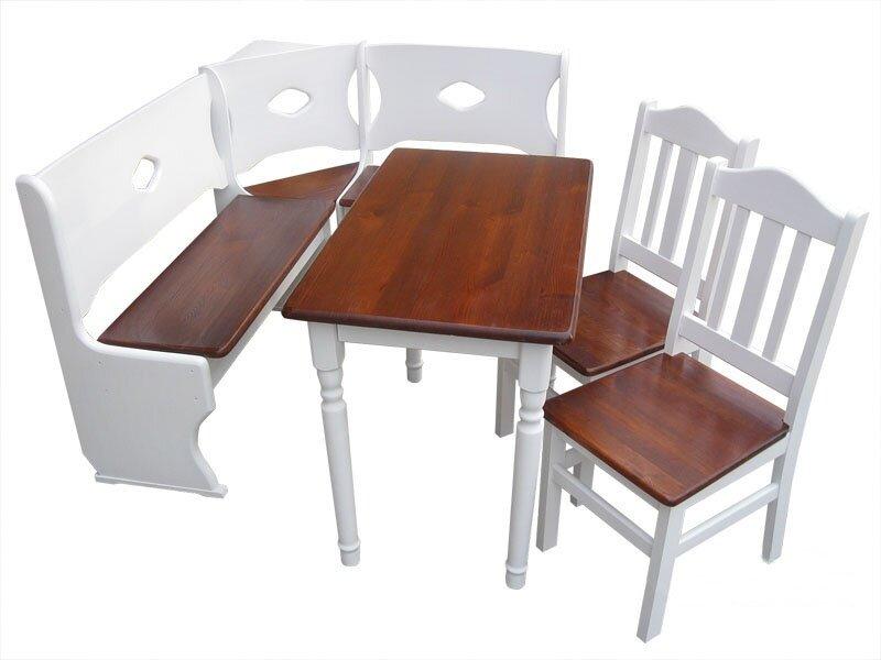 Banco de esquina con sillas set 13 nuevo ebay for Banco de esquina para cocina