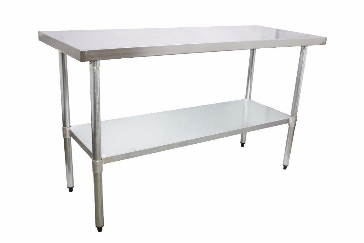 edelstahl arbeitstisch gastro tisch edelstahltisch k chentisch mit aufkantung ebay. Black Bedroom Furniture Sets. Home Design Ideas