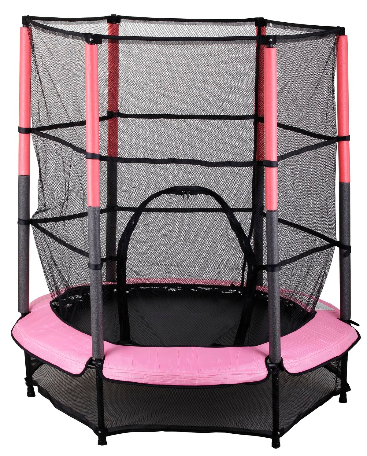 kinder trampolin indoor outdoor garten 140cm mit sicherheitsnetz pink ebay. Black Bedroom Furniture Sets. Home Design Ideas