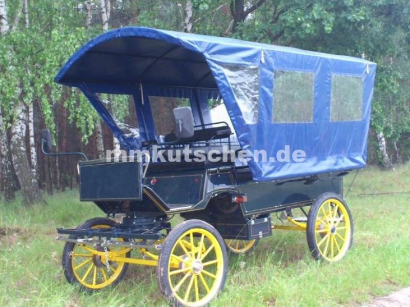 Planwagen 2 Kutsche 25 Wagonette Marathonwagen Kutschen Plane Pferdekutsche Fahrsport