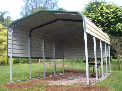 4mx6m Carport Kit Backyard Shade Shelter Portable Shed ...