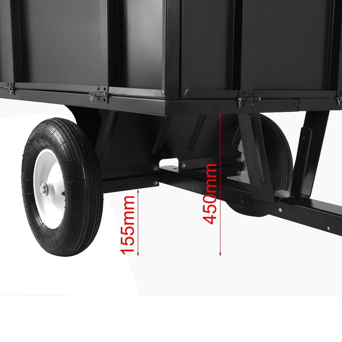 Anhänger kippbar 180KG Kapazität passend für ATV QUAD Rasentraktor
