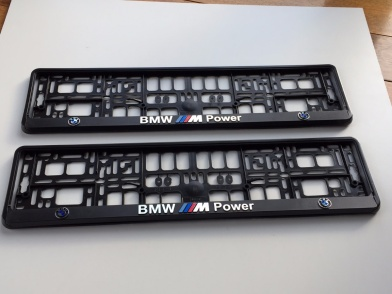 BMW M3 Series Euro Standart License Plates Frames with 3D //////M Logo