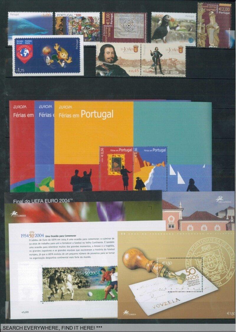 briefmarken euro nominal mit gummierung portugal ebay. Black Bedroom Furniture Sets. Home Design Ideas
